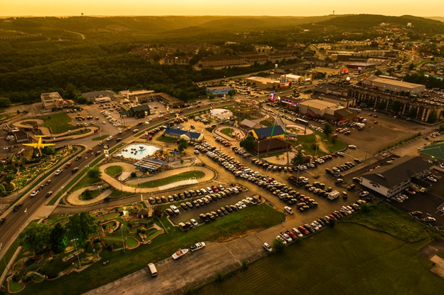 The Track Family Fun Parks Aerial Shot